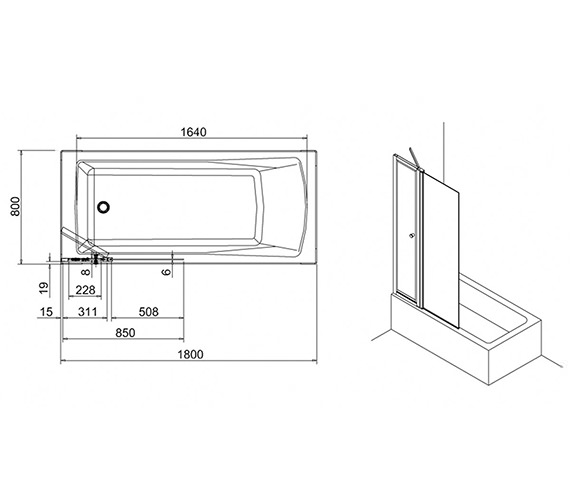 Technical drawing QS-V17543 / BS3