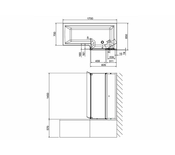 Technical drawing QS-V17545 / BS8R