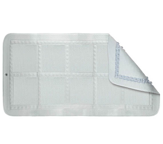 Croydex Hygiene N Clean Croydelle Bath Mat - White - BB211022H