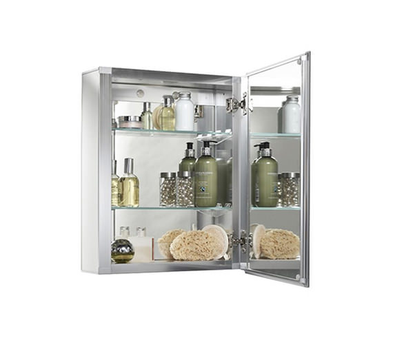 Croydex Winster Single Door Aluminium Cabinet 405 x 510mm - WC101169
