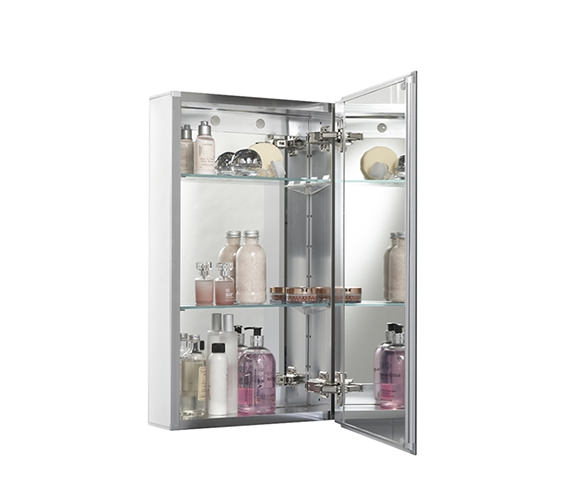Croydex Medina Single Door Aluminium Cabinet 380 x 600mm - WC101269