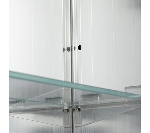 Additional image of Croydex Langley Single Door Aluminium Cabinet 510 X 660mm - WC101369