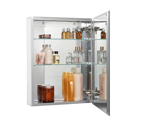 Croydex Langley Single Door Aluminium Cabinet 510 X 660mm - WC101369