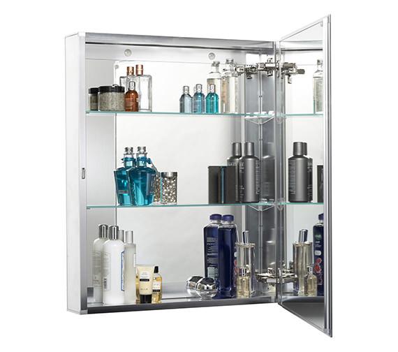 Croydex Haven Single Door Aluminium Cabinet 610 X 760mm - WC101469