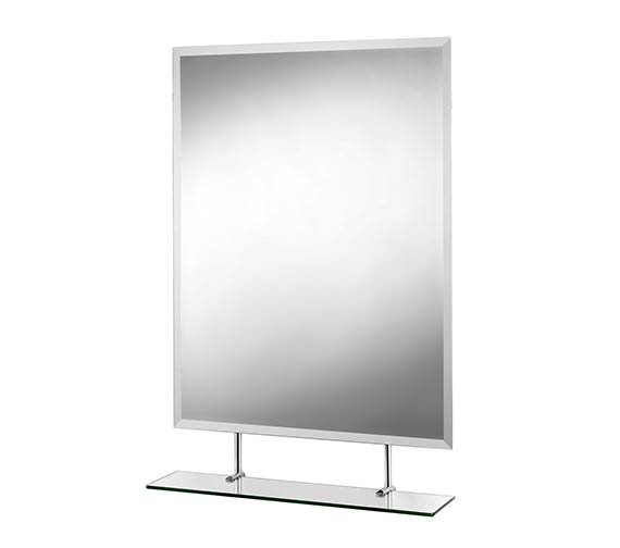 Croydex Helton Rectangular Mirror With Under Shelf 650 X 950mm