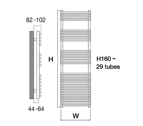 Technical drawing QS-V18166 / Altona 50/160