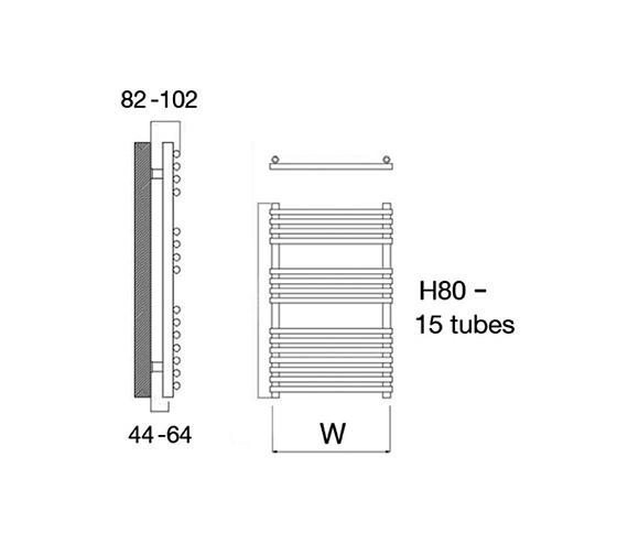 Technical drawing QS-V18167 / Altona 60/80