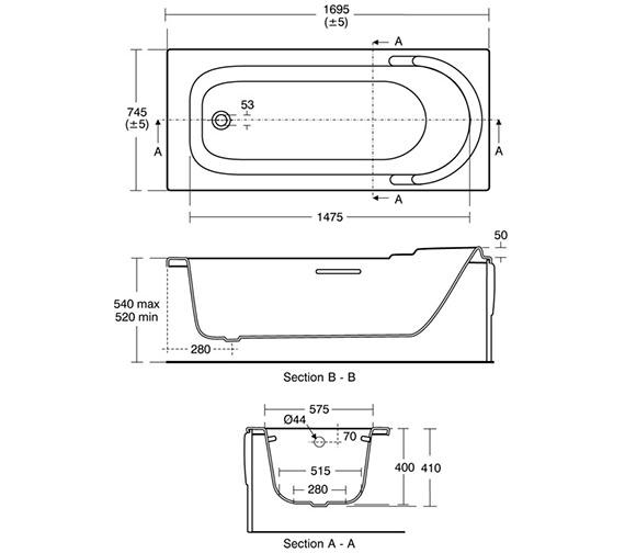 Technical drawing QS-V18300 / E402001
