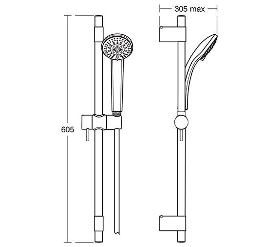 Technical drawing QS-V18325 / B9829AA
