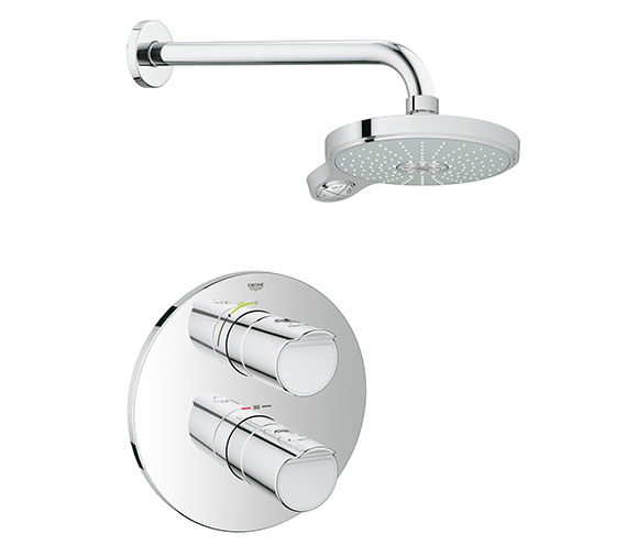 Grohe Grohtherm 2000 New Thermostat Valve With Showerhead And Arm