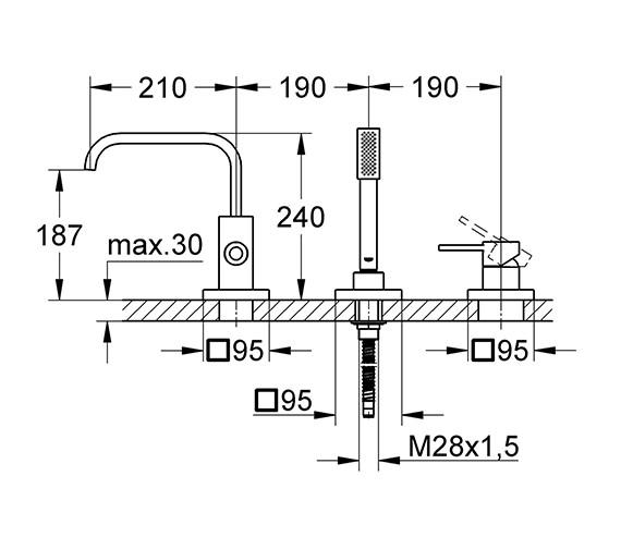 Technical drawing QS-V18453 / 19316000