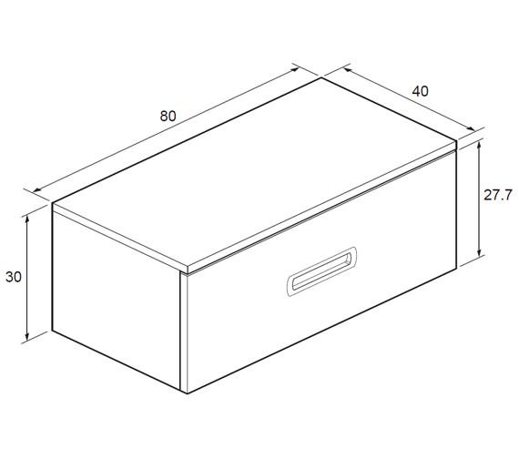 Technical drawing QS-V18619 / SA8000DWT
