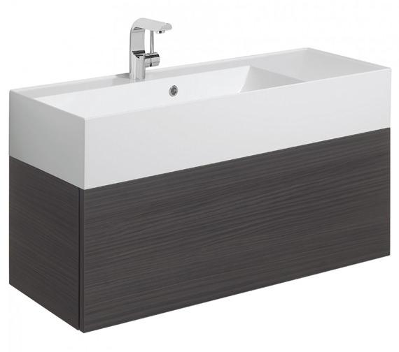 Bauhaus Elite 1000mm Single Drawer Anthracite Wall Hung Basin Unit