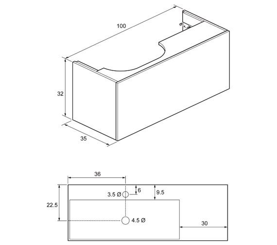 Technical drawing QS-V76411 / EL1000DST+