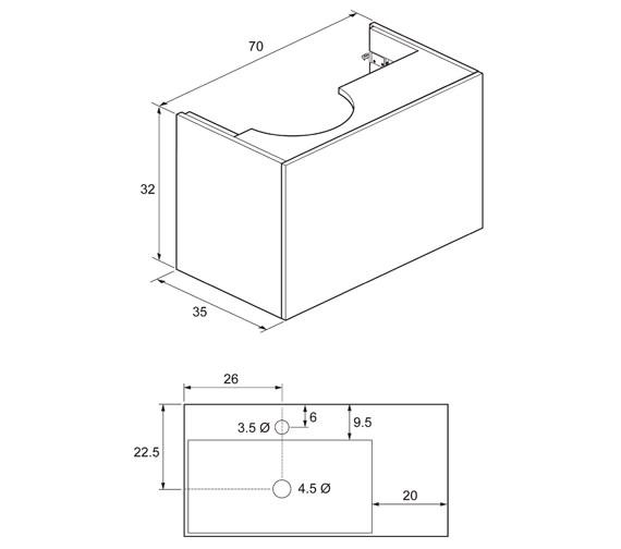 Technical drawing QS-V49017 / EL7000DPG+