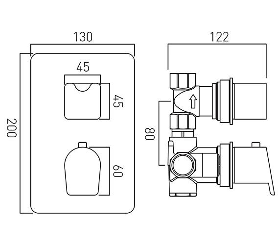 Technical drawing QS-V18649 / PHO-148C-3/4-C/P