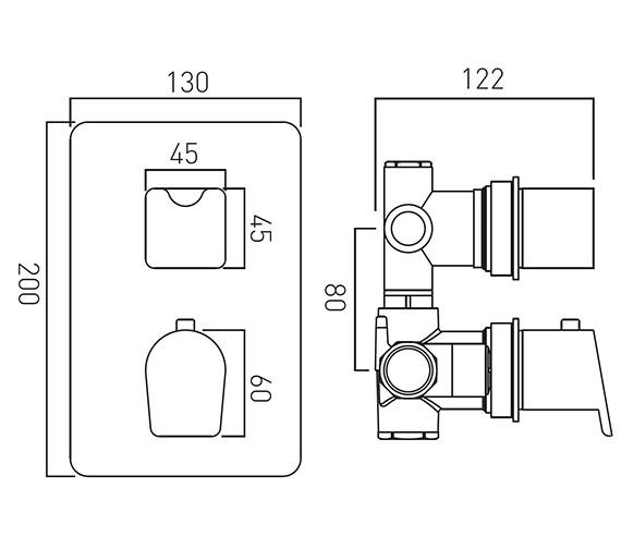 Technical drawing QS-V18650 / PHO-148C/2-C/P
