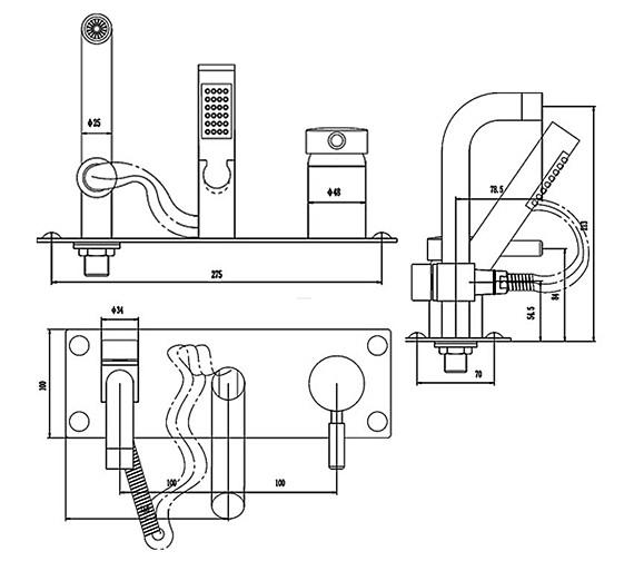 Technical drawing QS-V18681 / BEO-1700
