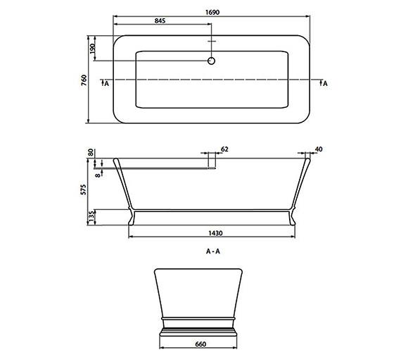 Technical drawing QS-V18810 / CI000110