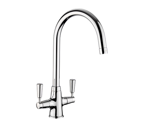 Rangemaster Aquaclassic 2 Chrome Kitchen Sink Mixer Tap - Chrome Handle