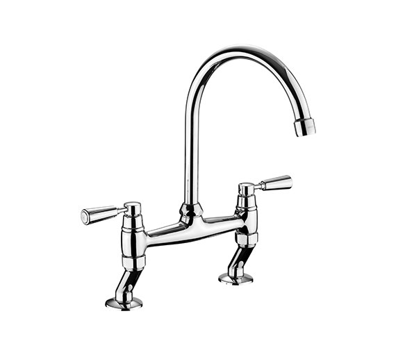 Rangemaster Traditional Belfast Bridge Kitchen Mixer Tap-Chrome Handles