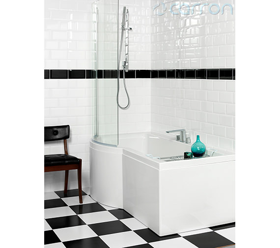 Additional image of Carron Urban Compact 5mm Acrylic Shower Bath 1500 x 750-900mm
