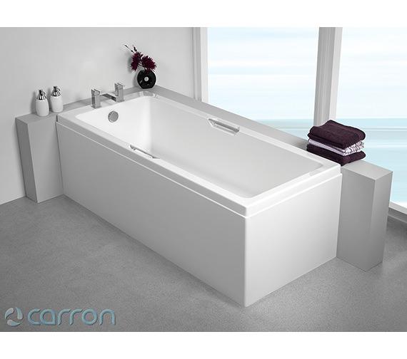 Additional image of Carron Quantum Integra Single Ended 5mm Acrylic Bath 1700 x 750mm