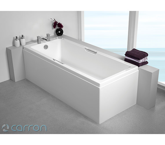Additional image of Carron Quantum Integra Single Ended 5mm Acrylic Bath 1800 x 800mm