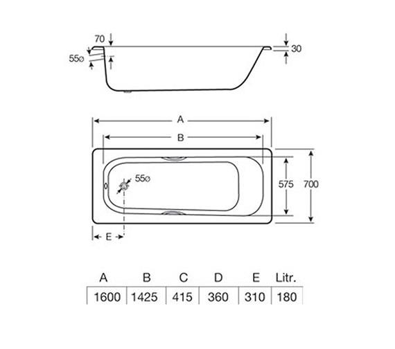 Technical drawing QS-V19238 / 2375M3000
