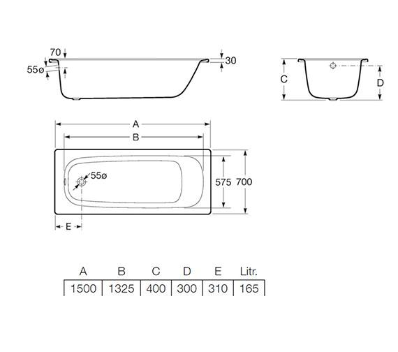 Technical drawing QS-V19236 / 2372K3000