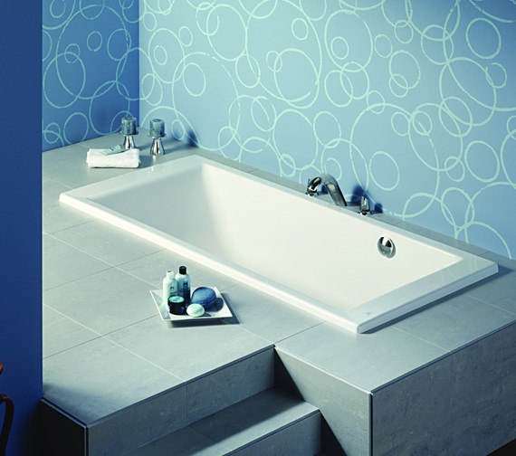 Additional image of Roca Vythos Double Ended Luxurious Acrylic Bath 1700 x 800mm - 247701000