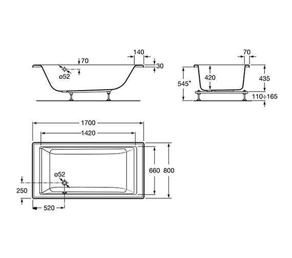 Technical drawing QS-V19248 / 247701000