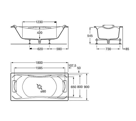 Technical drawing QS-V19249 / 248013001