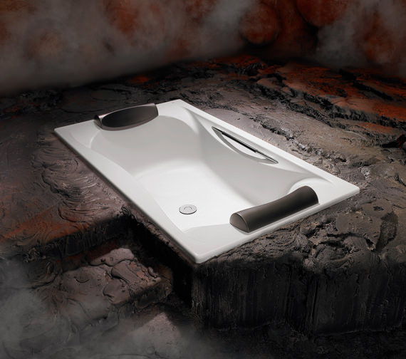 Additional image of Roca Becool Double Ended Acrylic Bath 1800 x 900mm - 248013001