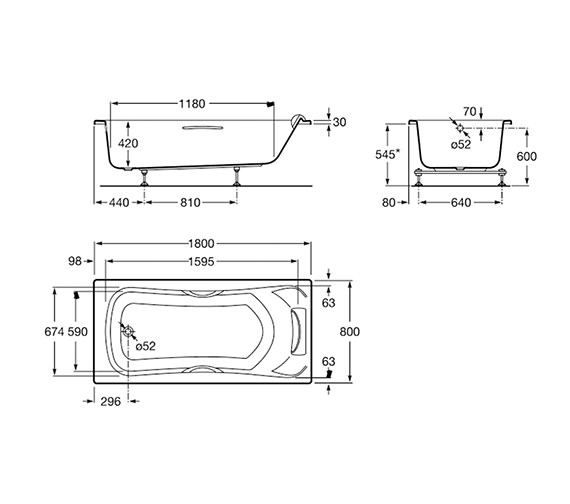 Technical drawing QS-V19250 / 248015001