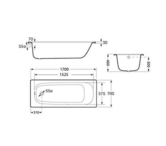 Technical drawing QS-V19256 / 2215K3000