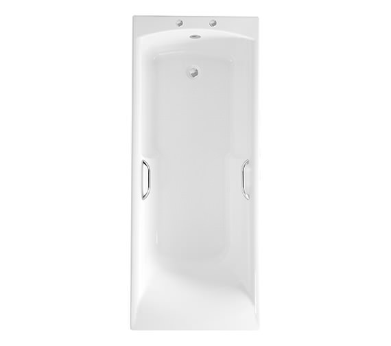 Roca Almeria Eco 1700 x 700mm Acrylic Bath With Grips And 2 Tapholes