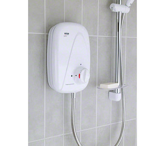 Mira Vigour Manual Power Shower White and Chrome - 1.1532.354