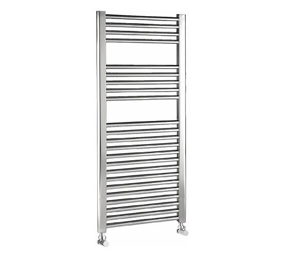 Lauren Electric Only 500 X 700mm Heated Ladder Chrome: Lauren Curved Chrome Ladder Towel Rail 500 X 1100mm
