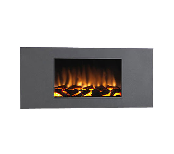 Marino XL Remote Control Wall Mounted Graphite Grey Finish Electric Fire
