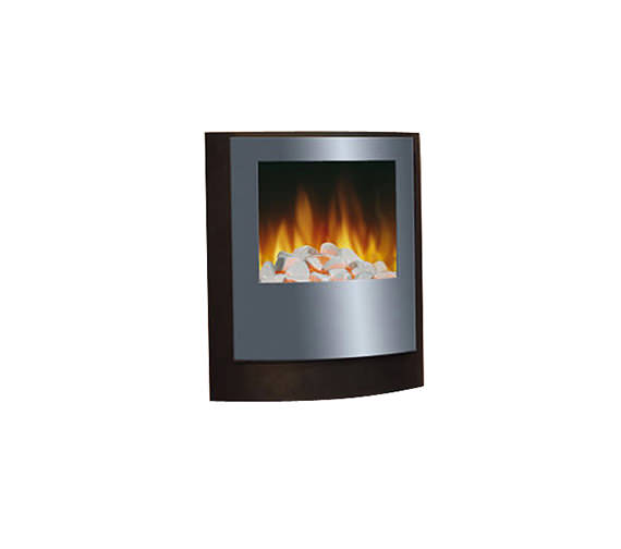 Dimplex SP8 Wall Mounted Remote Control Electric Fire Silver | SP820