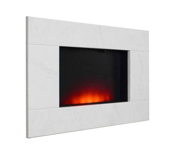 Be Modern Dante Wall Mounted Remote Control Electric Fire Limestone - 70173