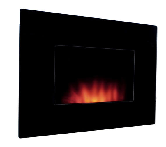 Be Modern Dante Wall Mounted Remote Control Electric Fire Black Granite - 54593