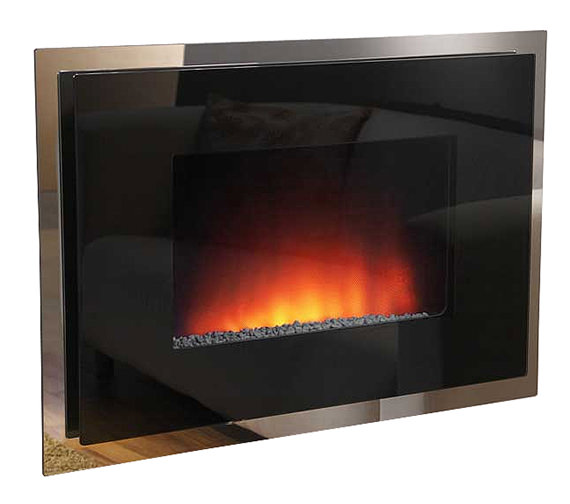 Be Modern Dante Double Glass Wall Mounted Electric Fire - 70165