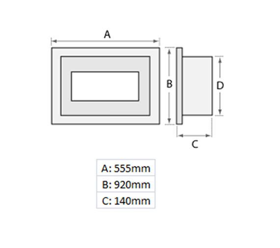 Technical drawing QS-V19463 / 70165