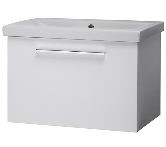 Roper Rhodes Envy 600mm White Wall Mounted Unit And Basin - EN600W