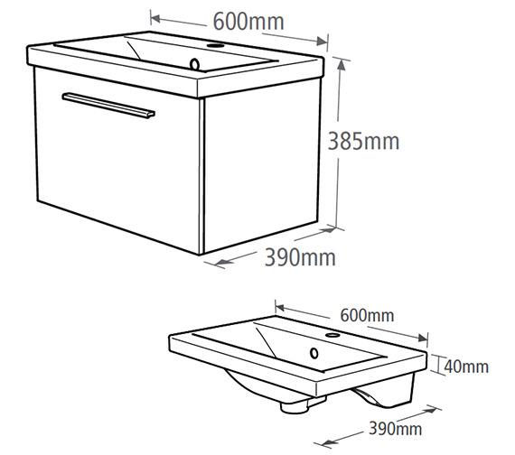 Technical drawing QS-V19472 / EN600W