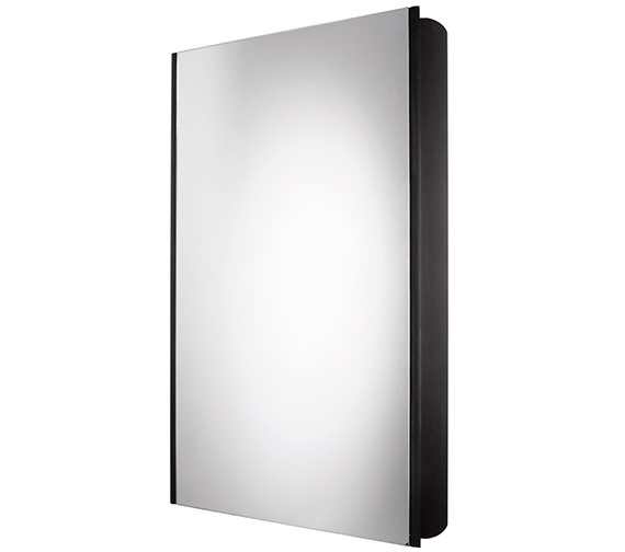 Ascension Limit Slimline 1 Door Bathroom Cabinet 450mm Black - AS415BL