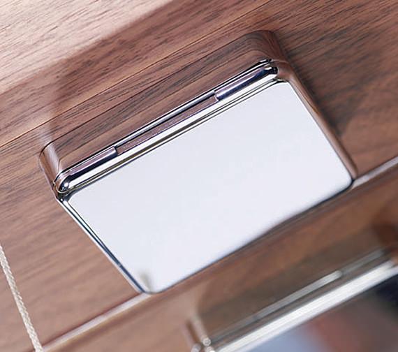Additional image of Sensory Instinct Single Mirror Glass Door LED Cabinet Walnut - SN590AW