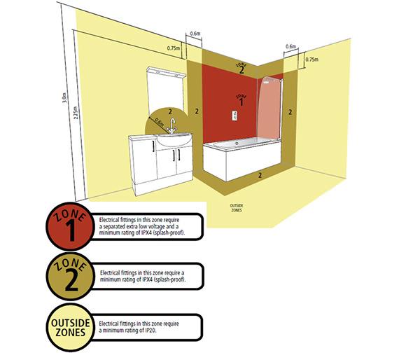 Alternate image of Sensory Instinct Single Mirror Glass Door LED Cabinet Walnut - SN590AW